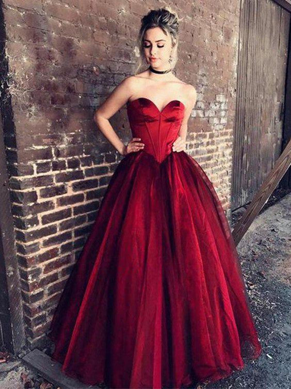 b90a02c5c0 ... Custom Made Sweetheart Neck Purple Red Prom Gown