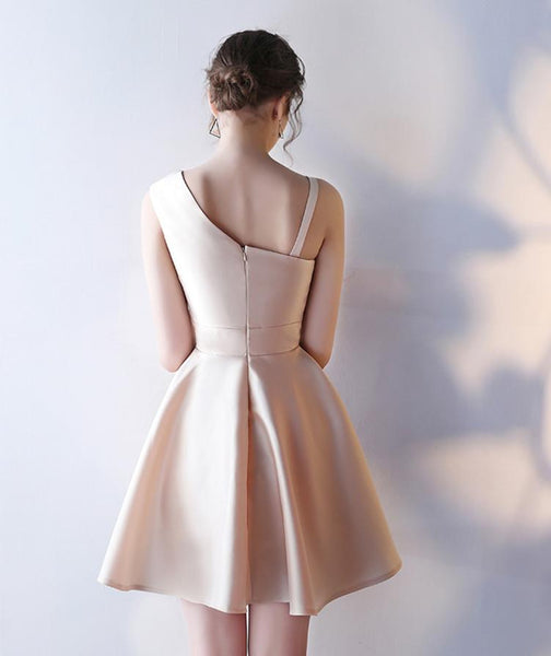 Custom Made Unique Champagne Short Prom Dresses, Short Graduation Dresses, Short Champagne Evening Dresses, Formal Dresses