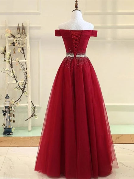 Off Shoulder Sequins Burgundy/Green Long Prom Dresses, Off Shoulder Burgundy Formal Dresses, Green Evening Dresses