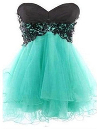 Sweetheart Sleeveless Short Lace Prom Dress, Homecoming Dress, Graduation Dress