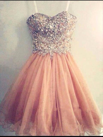 A Line Sweetheart Neck Short Prom Dresses, Formal Dresses, Graduation Dresses