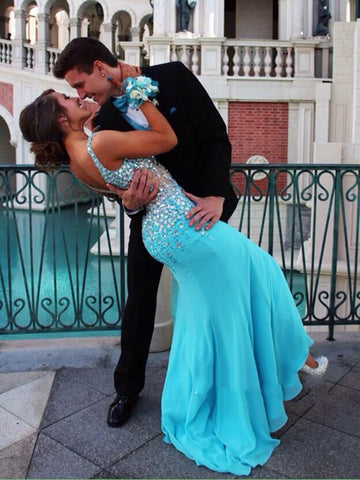 Custom Made Mermaid V Neck Prom Dresses, Long Dresses 2016, Formal Dresses