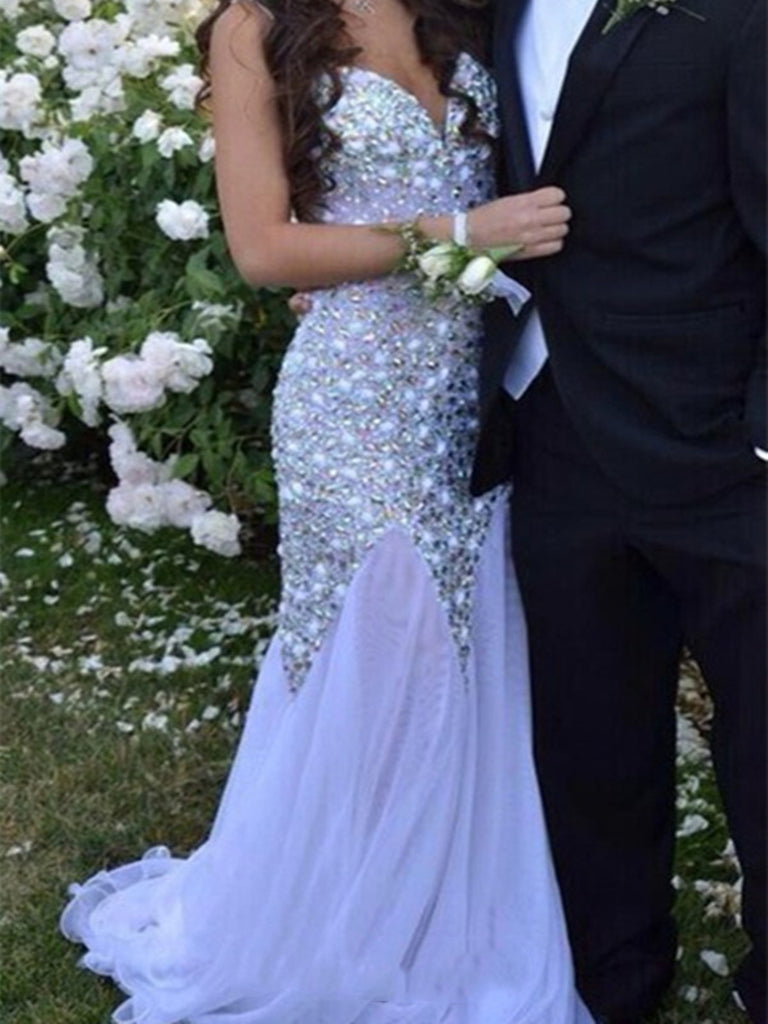 Mermaid Sweetheart Neck Long Prom Dresses, Long Formal Dresses, Evening Dresses