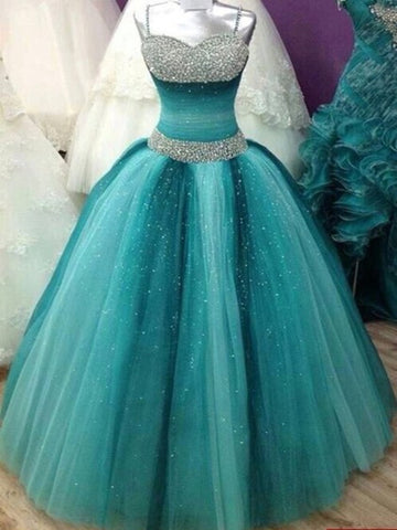 Custom Made Sweetheart Neck Floor Length Prom Dresses, Party Dresses