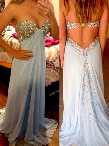 Custom Made Sweetheart Neck Floor Length Prom Dresses, Floor Length Formal Dresses
