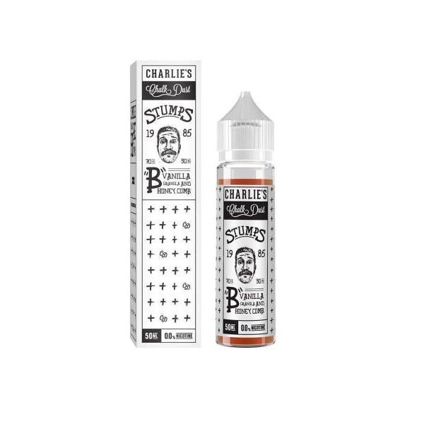 Charlie's Chalk Dust Stumps Range 50ml Shortfill (70VG/30PG)