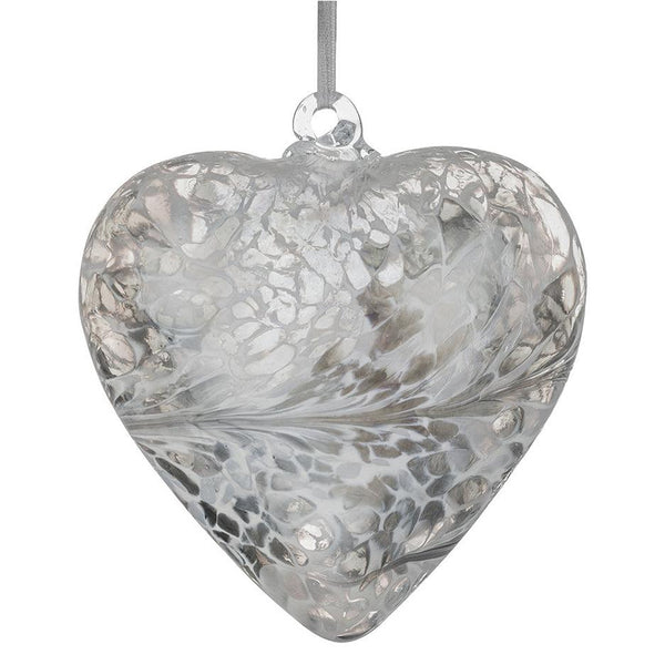12cm Friendship Heart - Pastel Silver