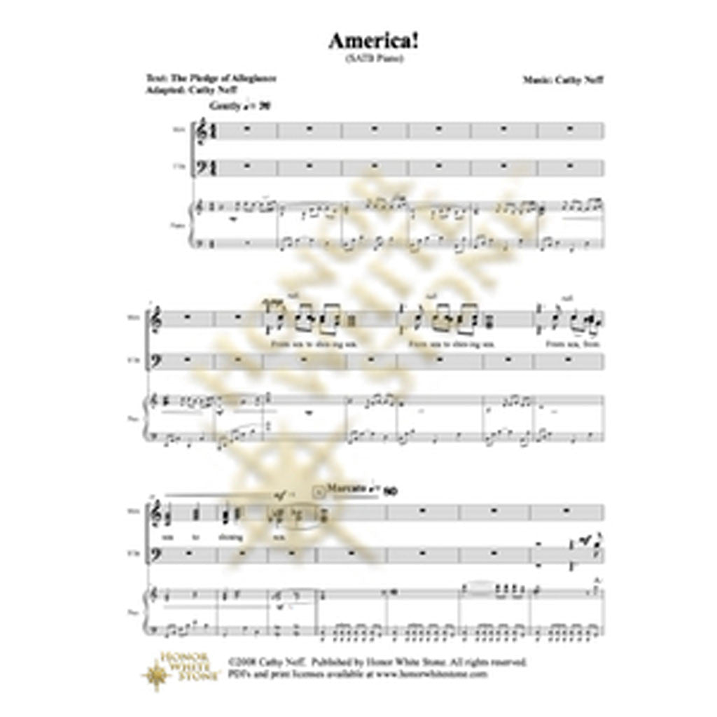 America (The Pledge of Allegiance) - SATB
