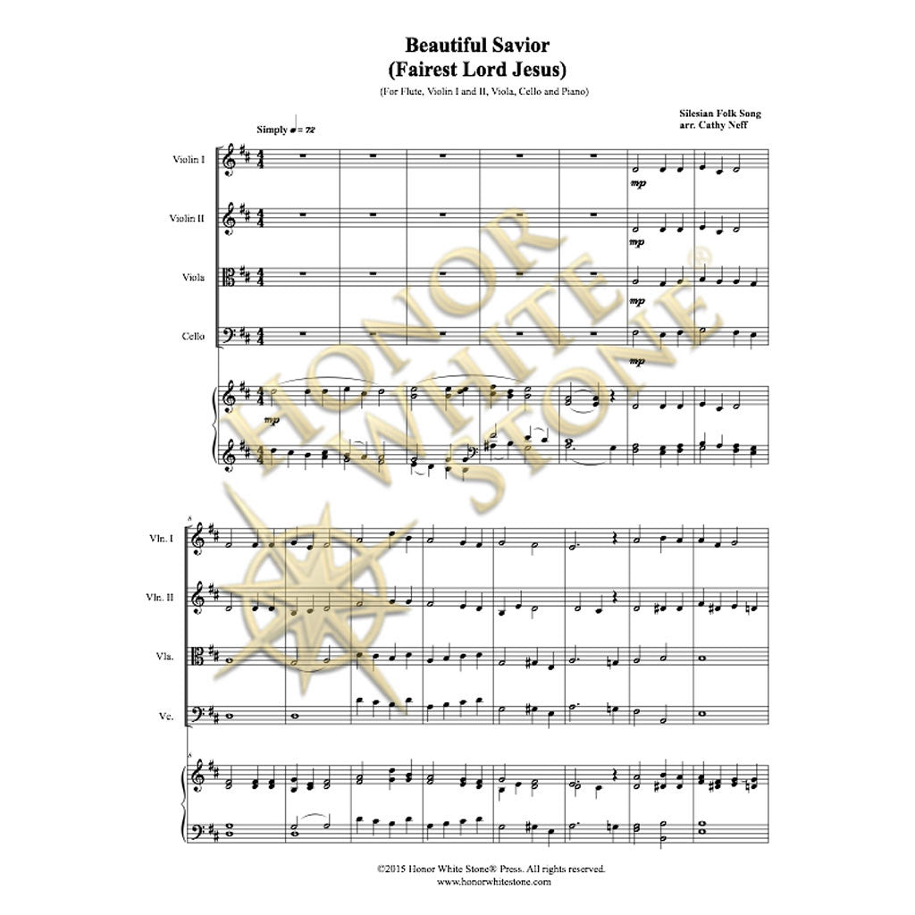 Capotastomusic Free Sheet Music Scores Love This Blog: Beautiful Savior (Fairest Lord Jesus)
