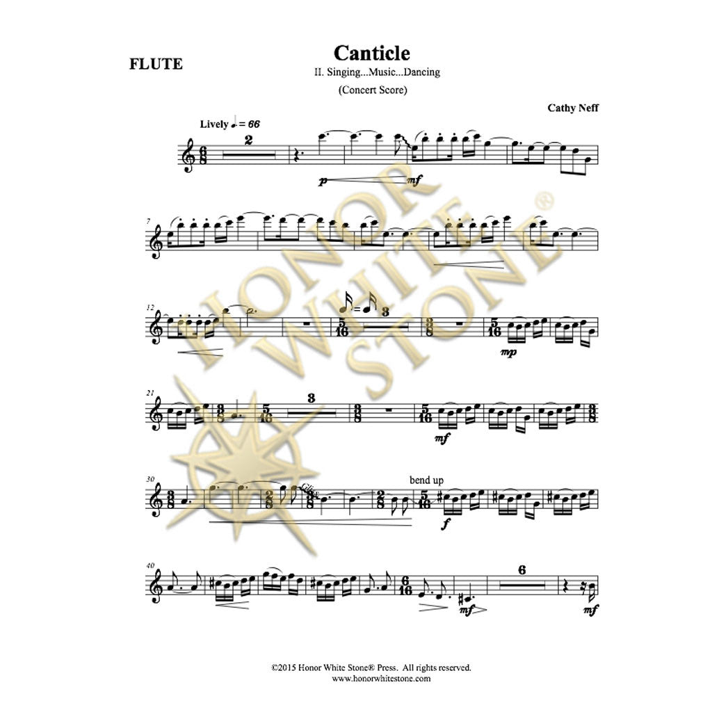 Canticle (3 movements) - flute, harp/piano