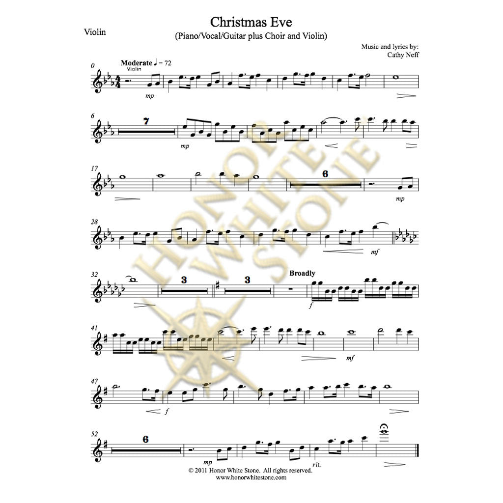 Christmas Eve - vocal solo, SSA, violin