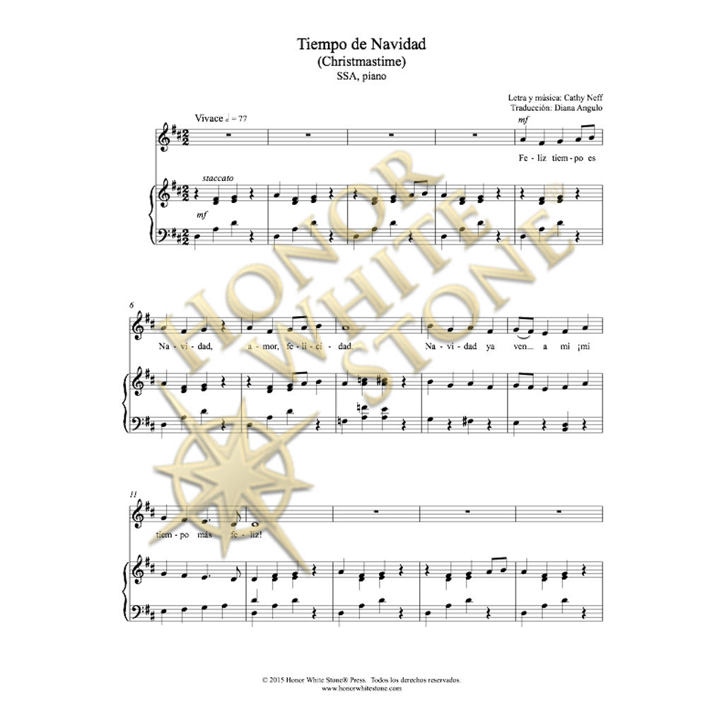 Christmastime - SSA piano (Spanish)