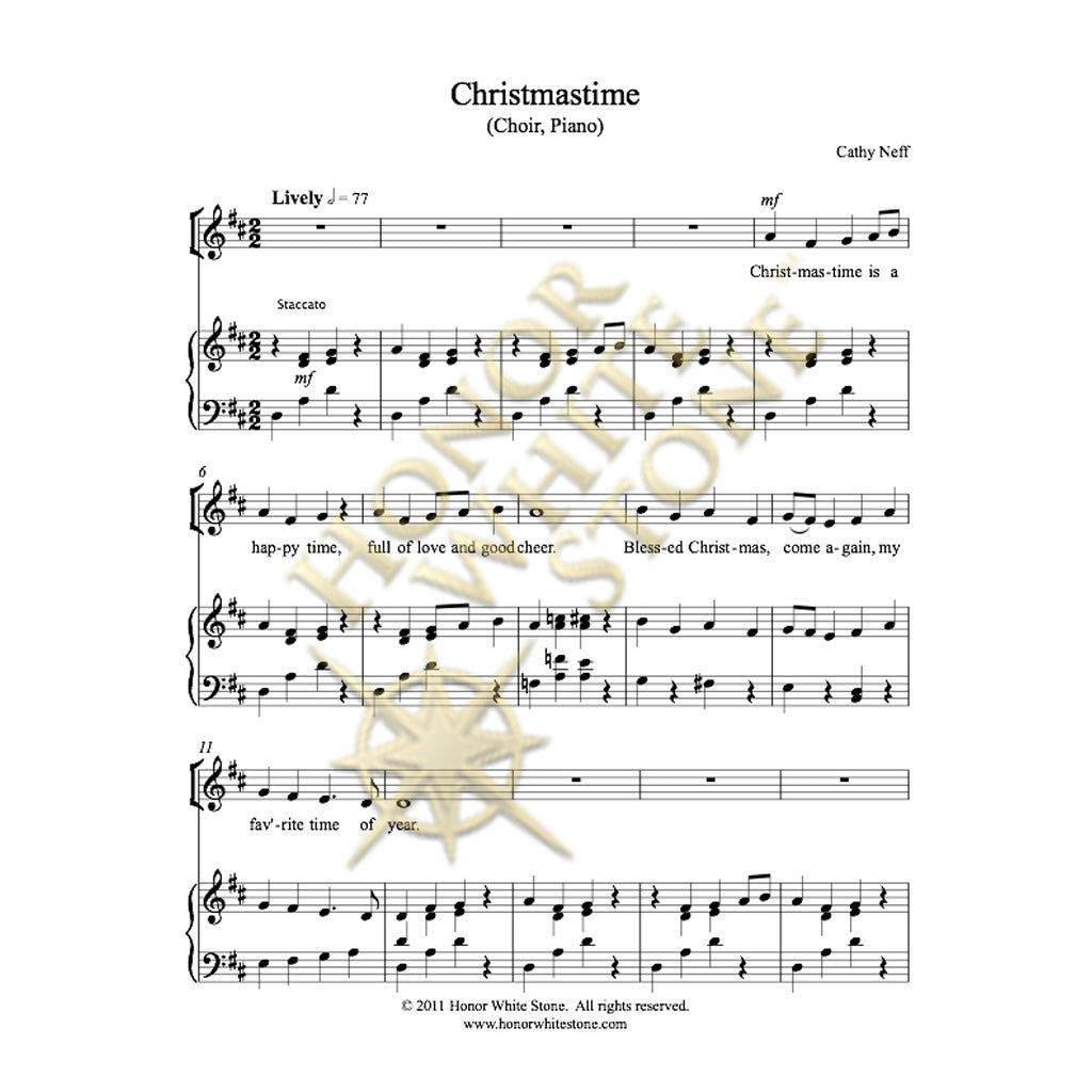 Christmastime - SSA piano