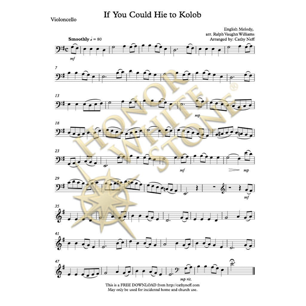 If You Could Hie to Kolob - cello, piano