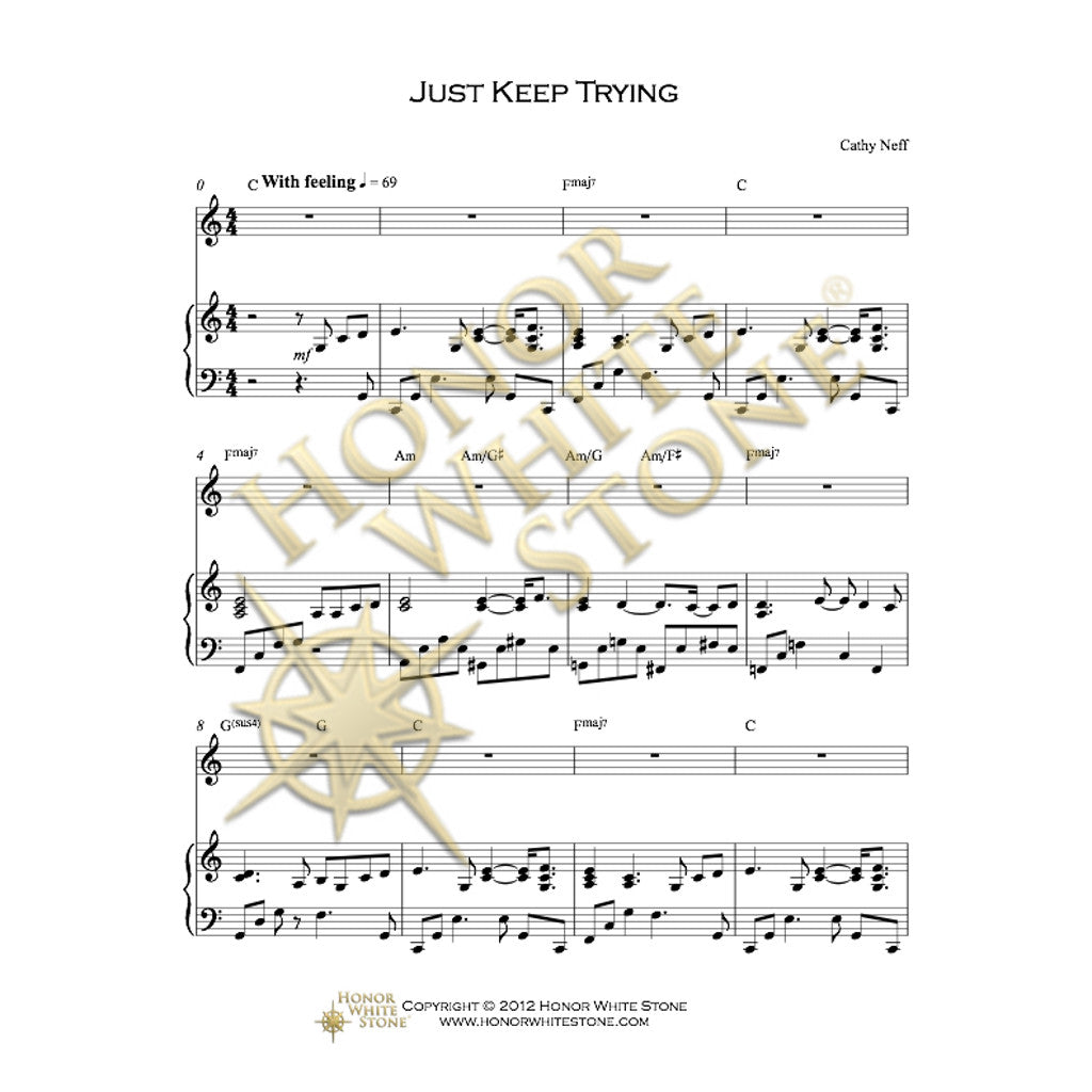 Just Keep Trying - piano, vocal, guitar