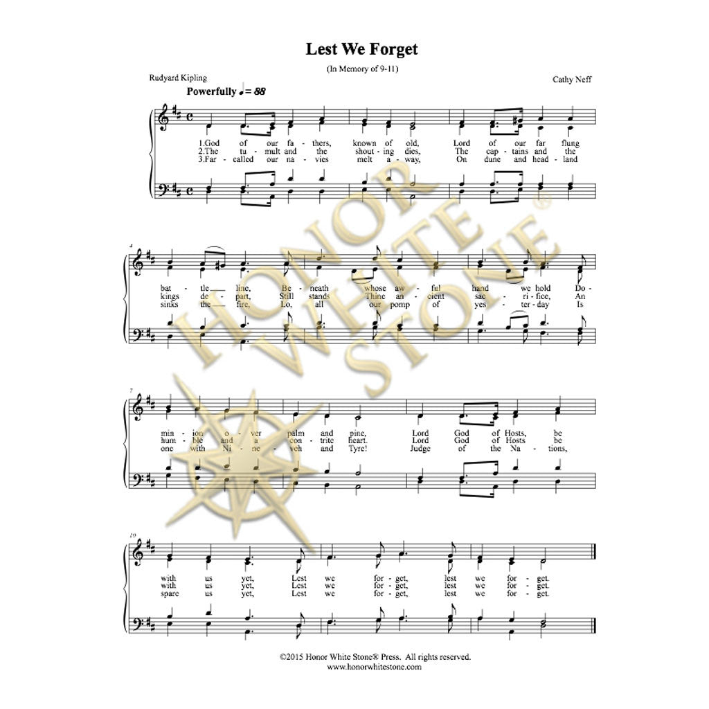Lest We Forget - SATB