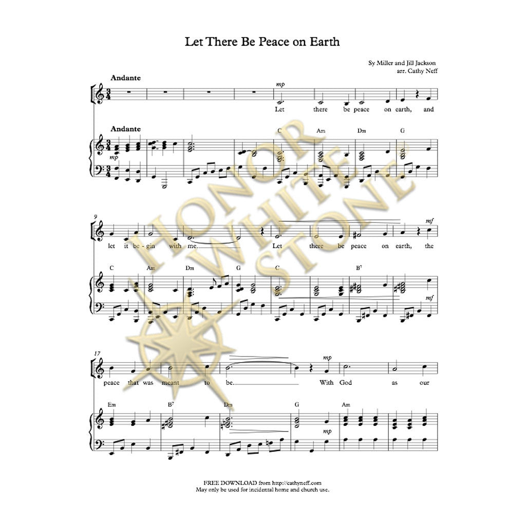 Let There Be Peace on Earth - SA