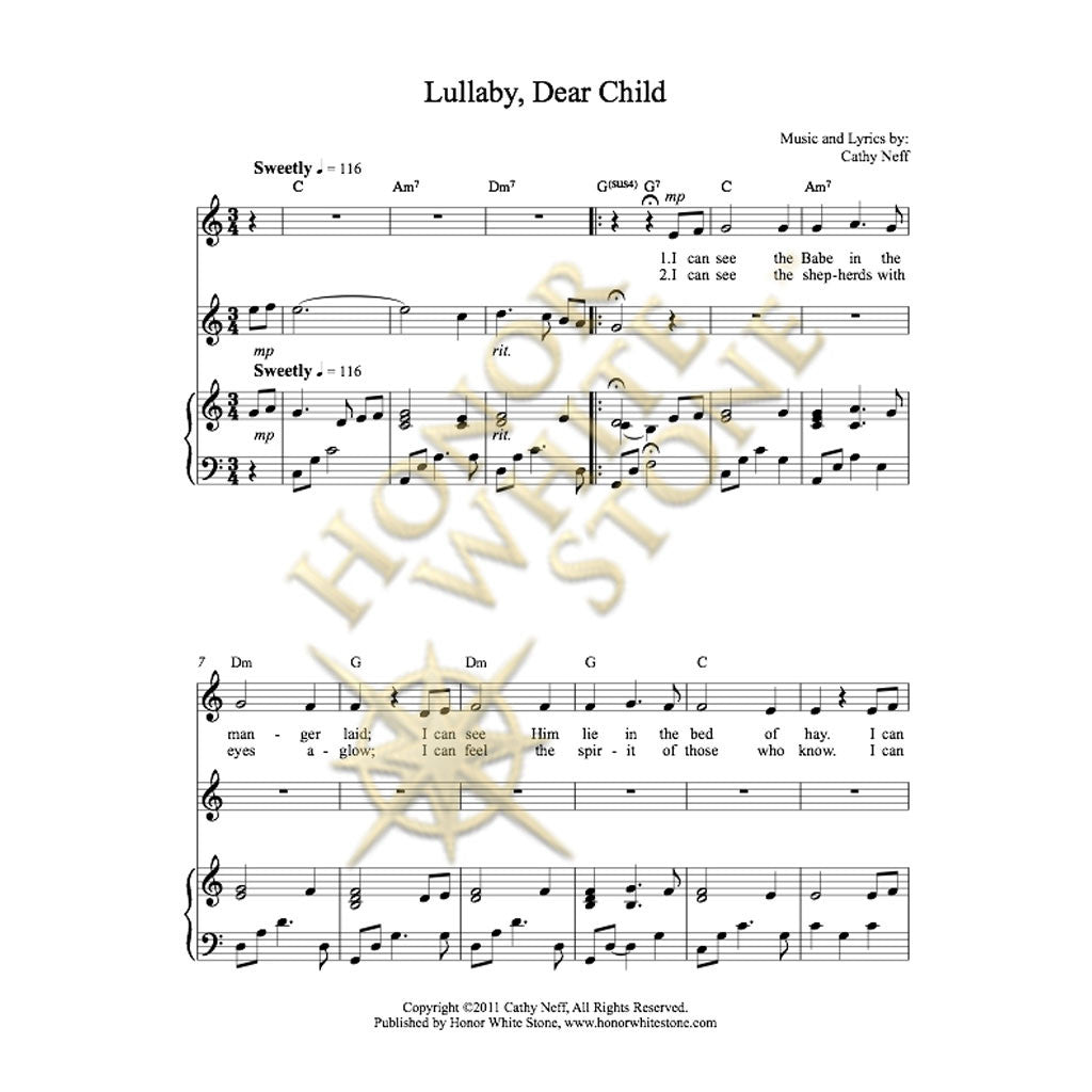 Lullaby Dear Child - piano, vocal, flute