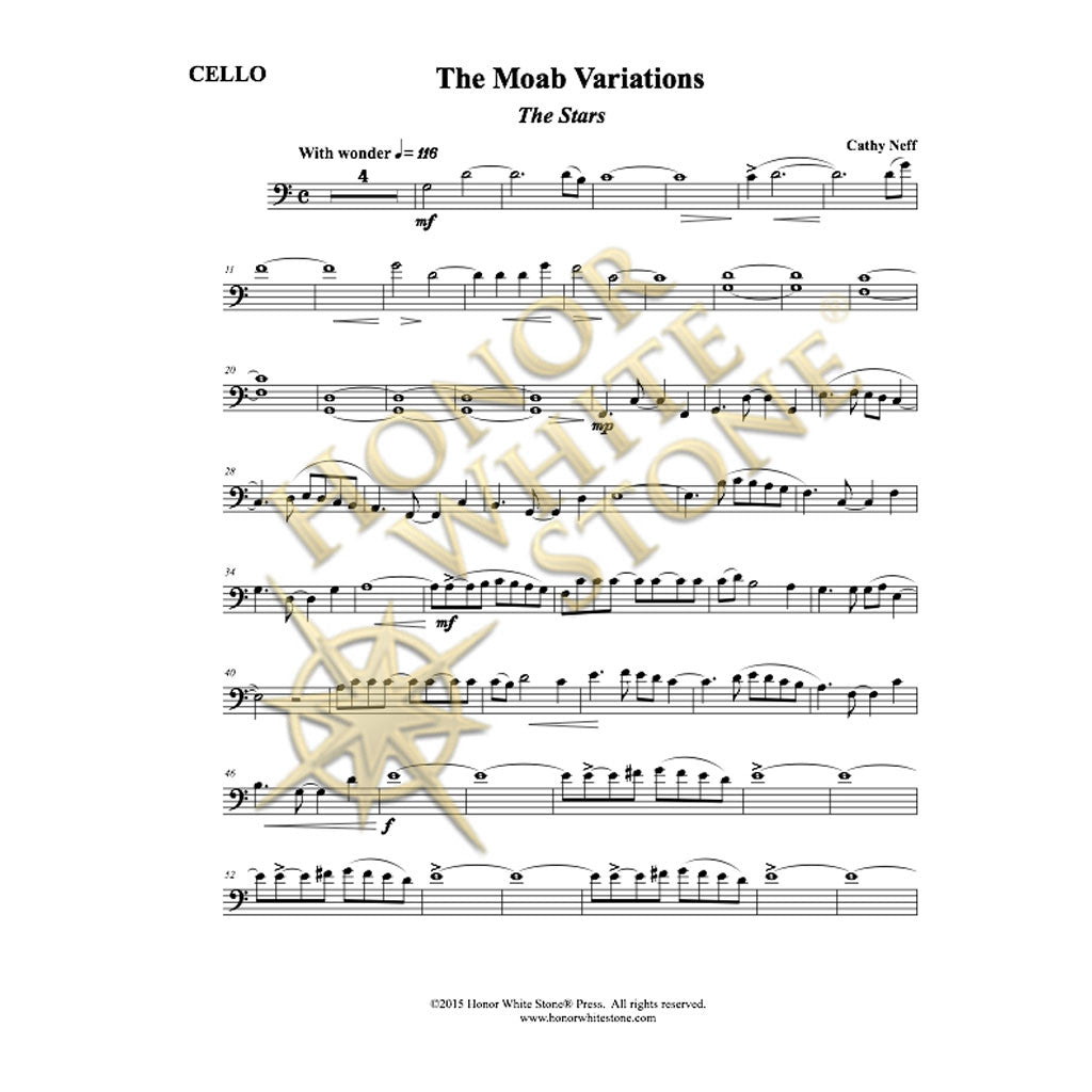 Moab Variations - cello, piano