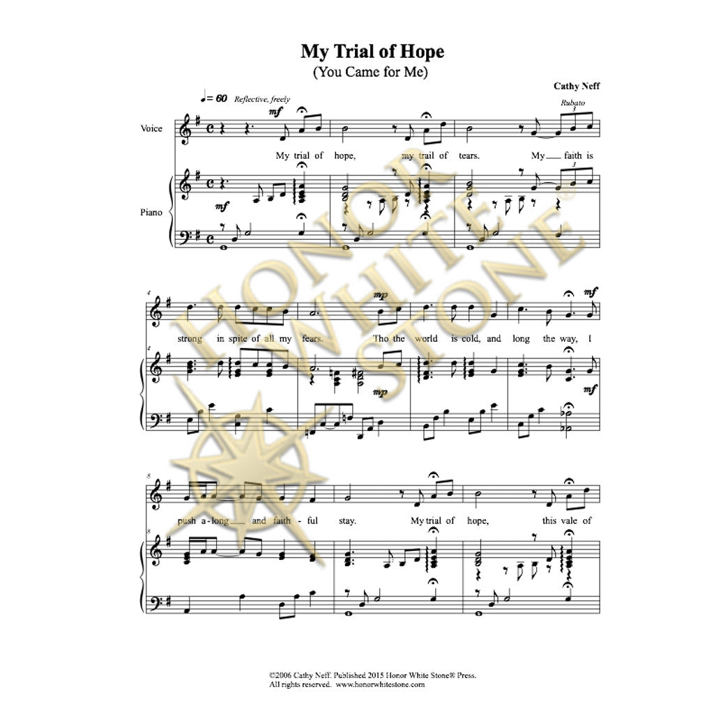 My Trial of Hope - piano, vocal