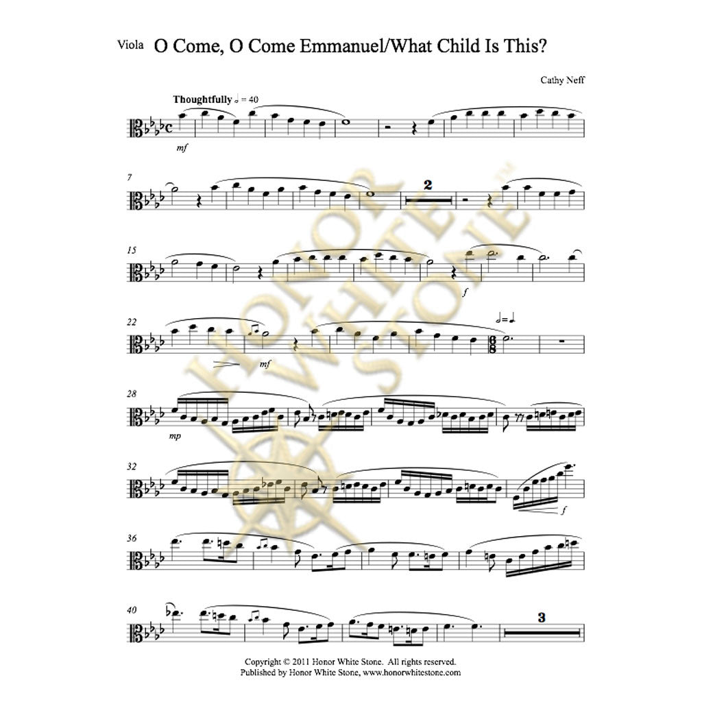 O Come Emmanuel-What Child - viola, harp/piano