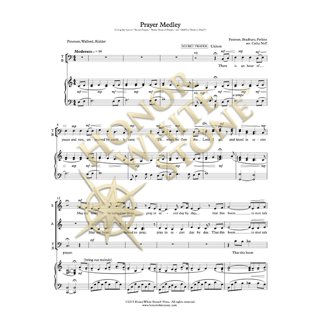 Prayer Medley - SATB