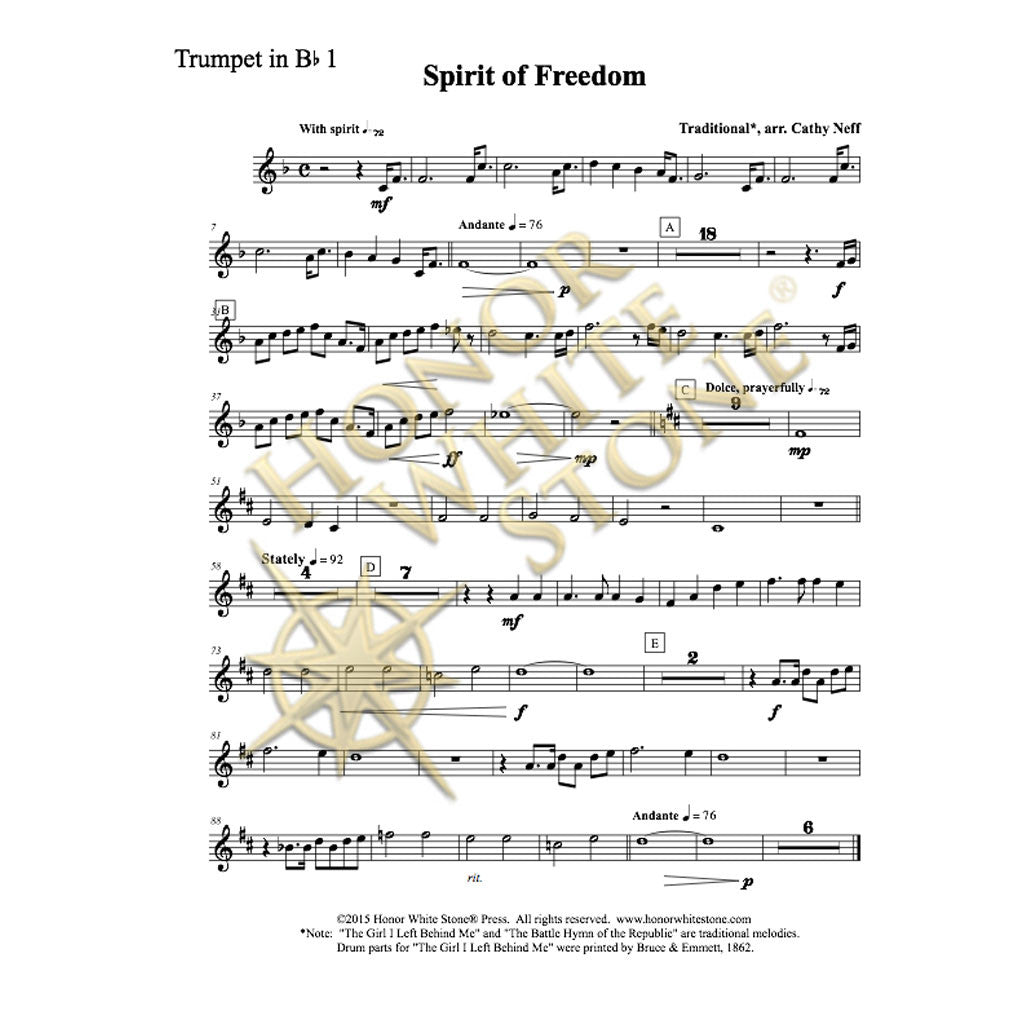 Spirit of Freedom - concert band