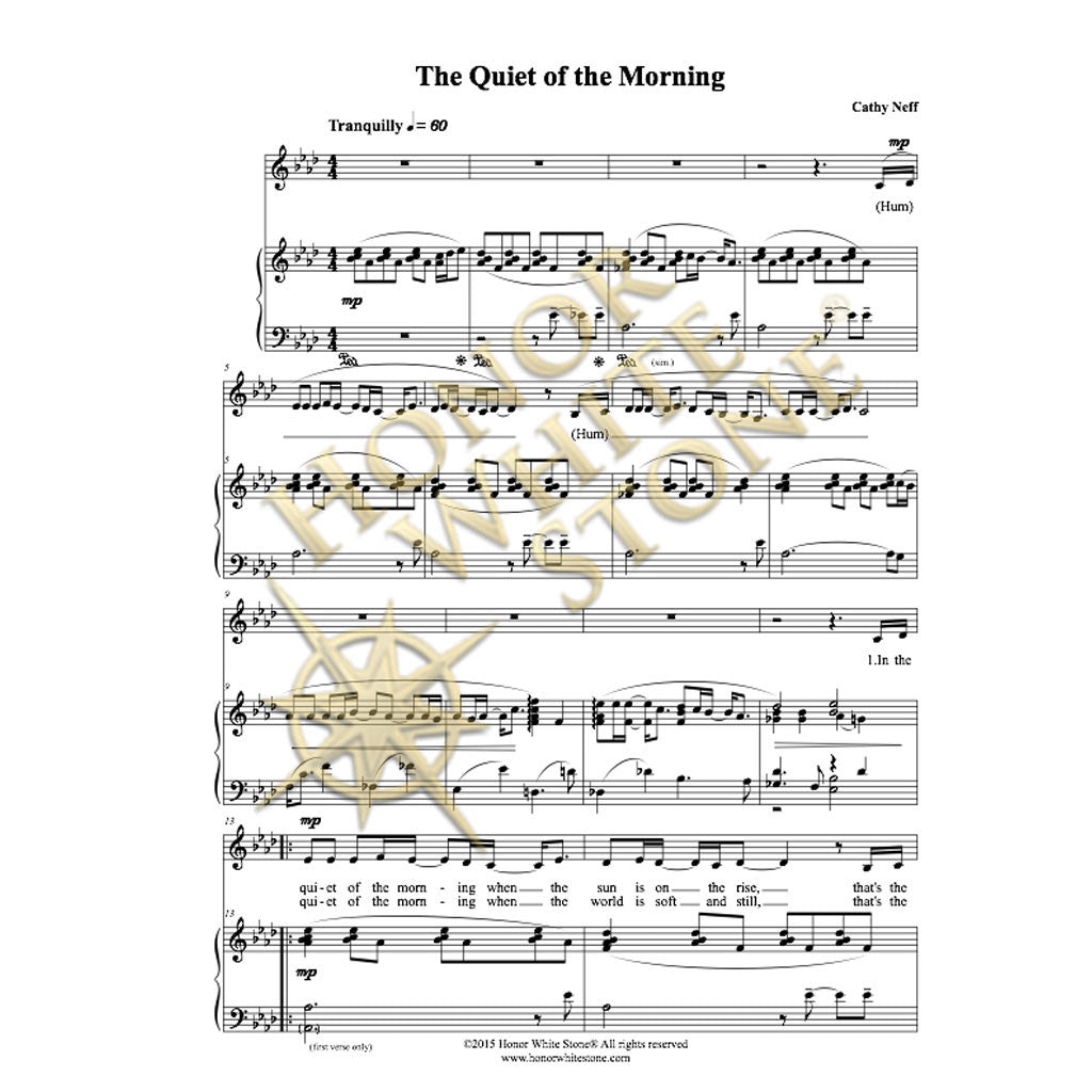 The Quiet of the Morning - piano, vocal