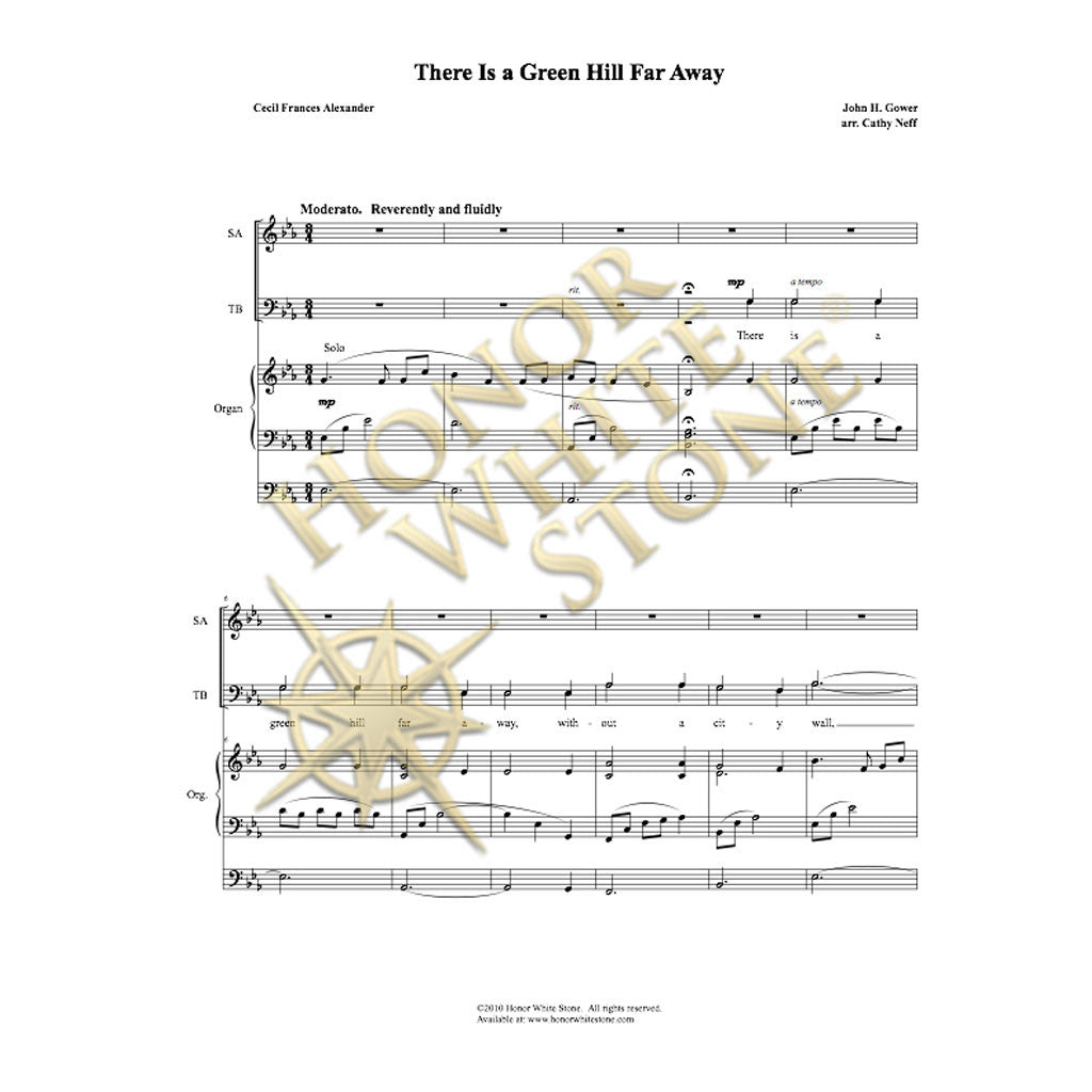 There Is a Green Hill Far Away - SATB