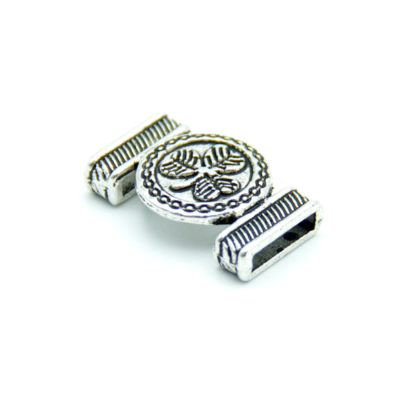 10pcs antique silver zamak clove slider for 10mm flat cord D-1-10-177