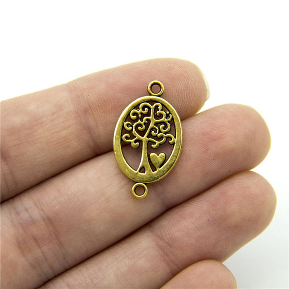 30 units Pendant antique gold life of tree connector charms Pendants Jewelry Findings & Components D-3-336