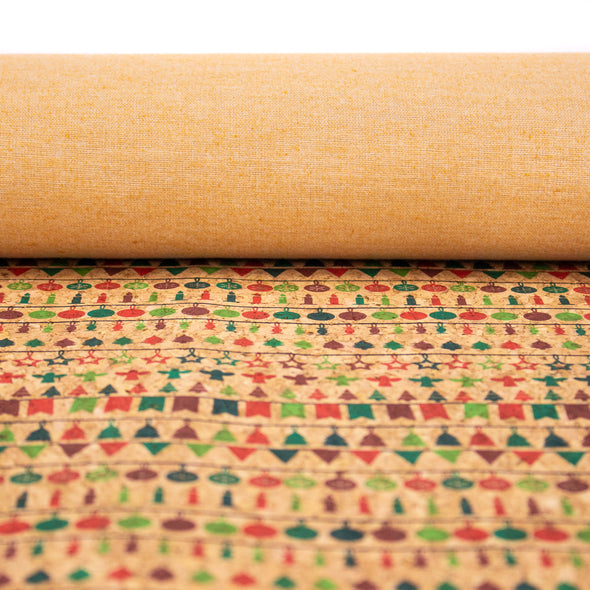 Natural cork Christmas Fabric Collection Christmas pattern COF-326