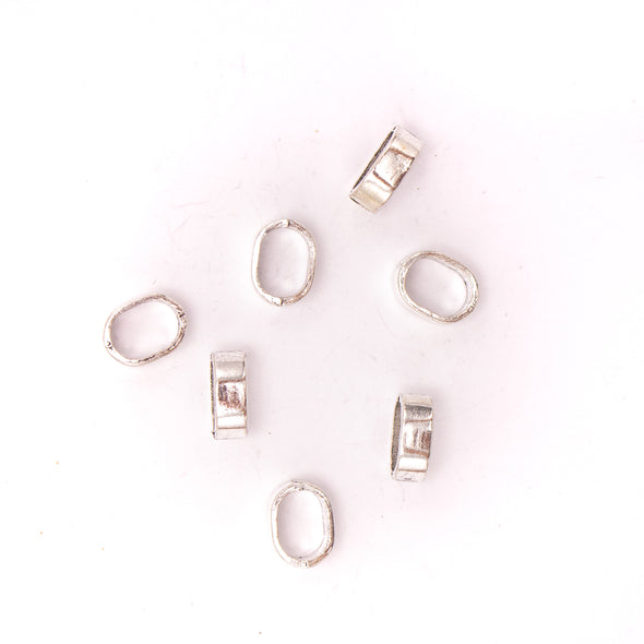 30pcs 10mm*5mm round jewelry finding silver zamak slider for licorice cord D-2-33