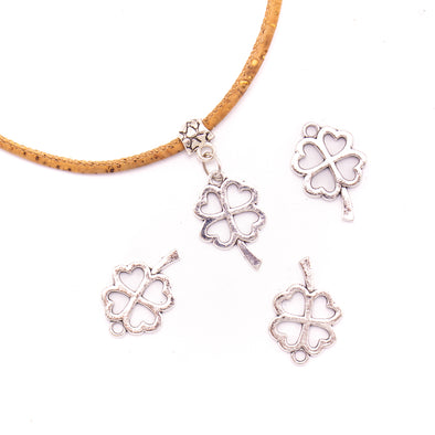 10Pcs Antique Four-leaf flower pendant for bracelet jewelry supplies jewelry finding D-3-439
