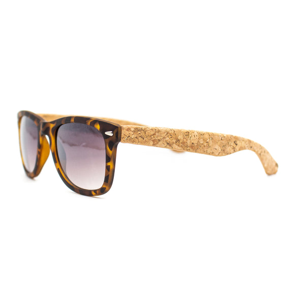 Cork sunglasses cork wooden UV protection eyewear Including Box case L-042