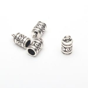 40Pcs for5mm round leather ends clasp, antique sliver jewelry supplies jewelry finding D-6-146