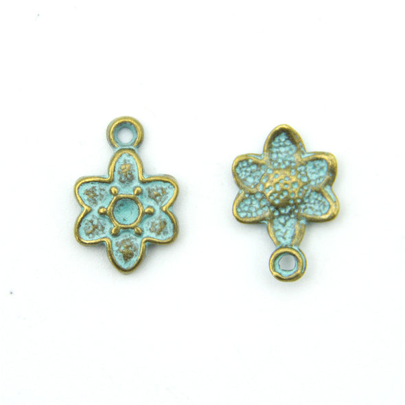 30 units mykonos findings Small flower charm mykonos charms finding jewelry finding suppliers D-3-287
