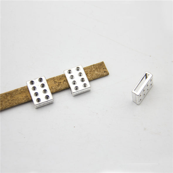 10 Pcs For 14mm flat leather,Antique Silver jewelry supplies jewelry finding D-1-10-162