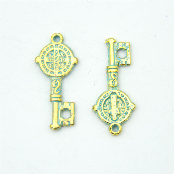 10 units mykonos findings key charm mykonos charms finding jewelry finding suppliers D-3-291