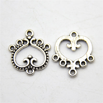 10 units antique silver Earrings connectors accessories jewelry finding suppliers D-3-260