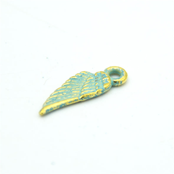 40 units mykonos findings small wing charm mykonos charms finding jewelry finding suppliers D-3-294