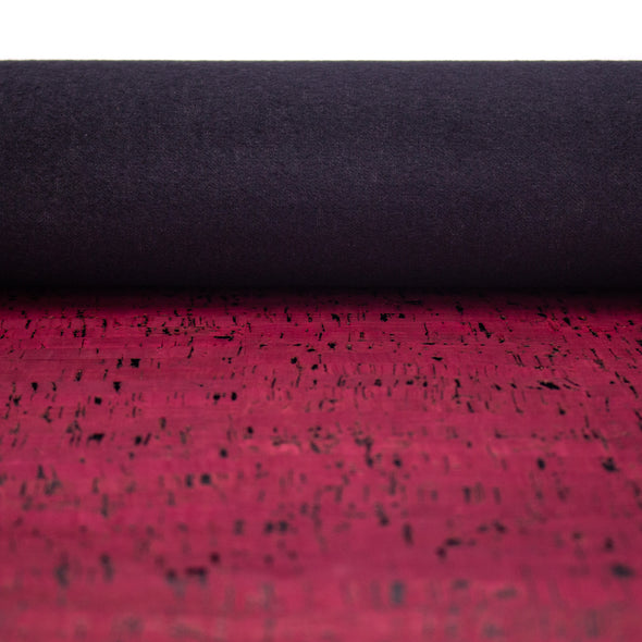 Wine red Portuguese cork fabric COF-316