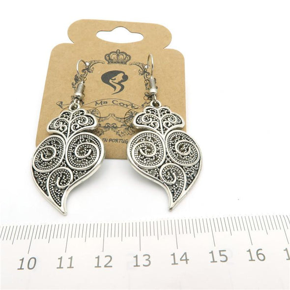 Portuguese Viana heart earrings women earrings handmade lady original dangle earrings ER-017