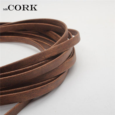 10mm natural cork rustic Carbon burning color cord  Cor-205