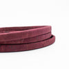 10x5mm Wine red color Licorice Cork Cord Leather Portuguese cork COR-347