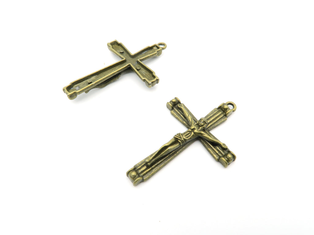 10 Pcs Antique Brass Cross  jewelry supplies jewelry finding D-3-26