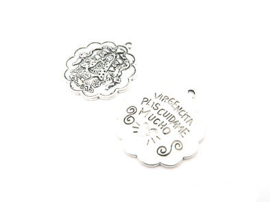 10 Pcs Antique Silver pendant Virgencita jewelry supplies jewelry finding D-3-23
