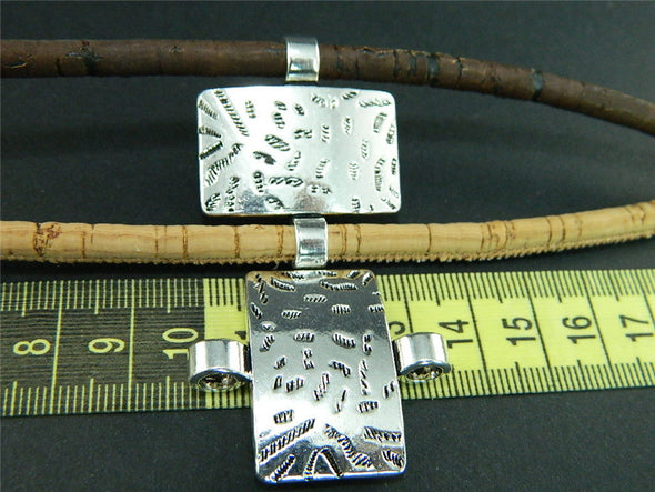 10 Pcs for 5mm round leather Antique Silver Square jewelry supplies jewelry finding D-5-5-6