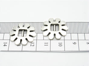 10 Pcs For 5mm flat leather,Antique Silver Flower jewelry supplies jewelry finding D-1-5-11