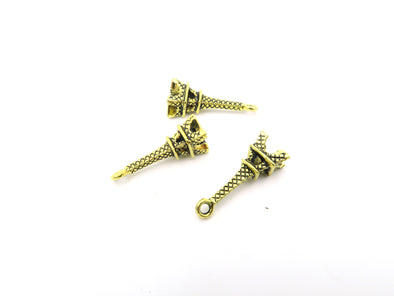 10 Pcs Antique Brass Eiffel Tower  jewelry supplies jewelry finding D-3-27